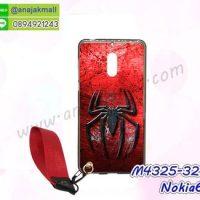 M4325-32 เคสยาง Nokia6 ลาย SpiderIII พร้อมสายคล้องมือ
