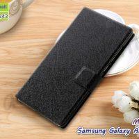 M4423-01 เคสหนังฝาพับ Samsung Galaxy A5 (2015) สีดำ