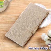 M4423-02 เคสหนังฝาพับ Samsung Galaxy A5 (2015) สีทอง