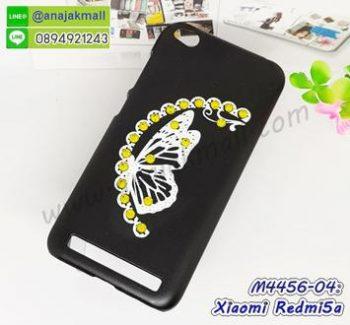 M4456-04 เคสแข็งแต่งคริสตัล Xiaomi Redmi5a ลาย Yellow Butterfly