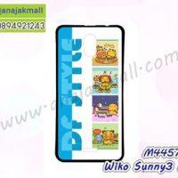 M4457-01 เคสยาง Wiko Sunny3 Plus ลาย Blue DF Style