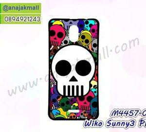 M4457-03 เคสยาง Wiko Sunny3 Plus ลาย Multi Skull II