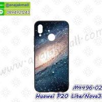 M4496-02 เคสขอบยาง Huawei P20 Lite/Nova3e ลาย Galaxy X12