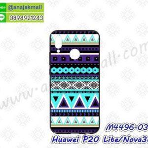 M4496-03 เคสขอบยาง Huawei P20 Lite/Nova3e ลาย Graphic X06