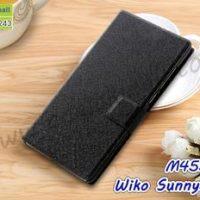 M4552-01 เคสฝาพับ Wiko Sunny3 Plus สีดำ