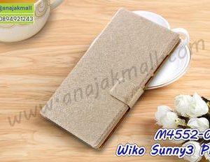 M4552-02 เคสฝาพับ Wiko Sunny3 Plus สีทอง
