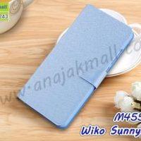 M4552-03 เคสฝาพับ Wiko Sunny3 Plus สีฟ้า