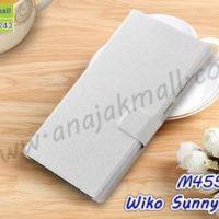M4552-05 เคสฝาพับ Wiko Sunny3 Plus สีขาว