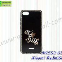 M4553-01 เคสขอบยาง Xiaomi Redmi6a แต่งคริสตัลลาย Zebra01