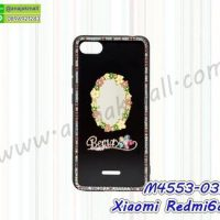 M4553-03 เคสขอบยาง Xiaomi Redmi6a แต่งคริสตัลลาย Beauty01