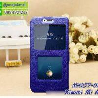 M4277-05 เคสฝาพับโชว์เบอร์ Xiaomi Mi A2 สีน้ำเงิน