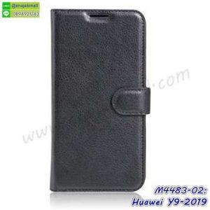 M4483-02 เคสหนังฝาพับ Huawei Y9 2019 สีดำ