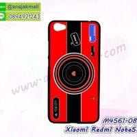 M4561-08 เคสแข็งดำ Xiaomi Redmi Note5a ลาย Red Camera