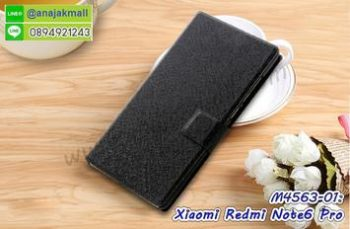 M4563-01 เคสฝาพับ Xiaomi Redmi Note6Pro สีดำ