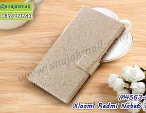 M4563-02 เคสฝาพับ Xiaomi Redmi Note6Pro สีทอง