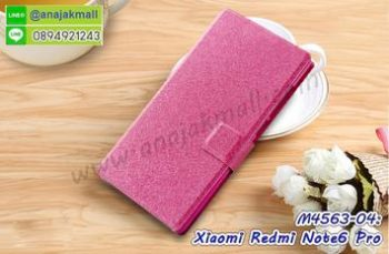 M4563-04 เคสฝาพับ Xiaomi Redmi Note6Pro สีชมพู
