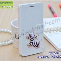 M4581-12 เคสฝาพับ Huawei Y9 2018 แต่งคริสตัลลาย Zebra I