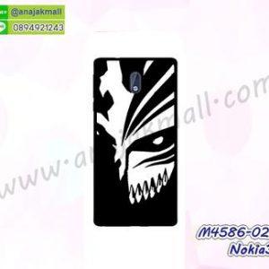 M4586-02 เคสแข็งดำ Nokia3 ลาย Mask X11