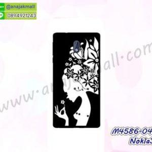 M4586-04 เคสแข็งดำ Nokia3 ลาย Women X111
