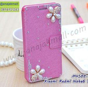 M4588-07 เคสหนัง Xiaomi Redmi Note6Pro แต่งคริสตัลลาย Flower I