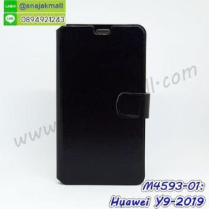 M4593-01 เคสฝาพับ Huawei Y9 2019 สีดำ