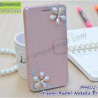 M4602-08 เคสฝาพับ Xiaomi Redmi Note5aPrime แต่งคริสตัลลาย Two Flower II