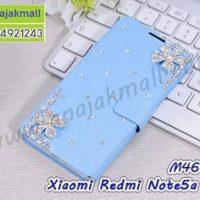 M4602-19 เคสฝาพับ Xiaomi Redmi Note5aPrime แต่งคริสตัลลาย Flower IV