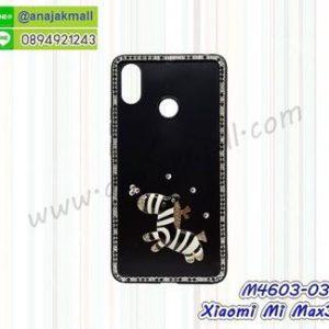 M4603-03 เคสขอบยาง Xiaomi Mi Max3 แต่งคริสตัลลาย Zebra 01