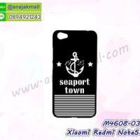 M4608-03 เคสแข็งดำ Xiaomi Redmi Note5a ลาย Seaport Town