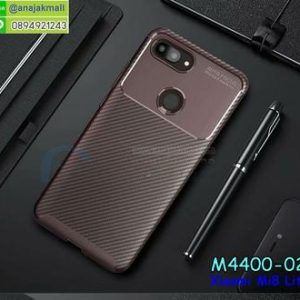M4400-02 เคสยางกันกระแทก Xiaomi Mi8 Lite สีน้ำตาล
