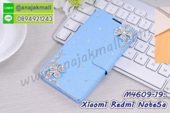 M4609-19 เคสฝาพับ Xiaomi Redmi Note5a แต่งคริสตัลลาย Flower IV