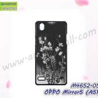 M4652-05 เคสแข็ง OPPO Mirror5 ลาย Black Flower (ซื้อ 1 แถม 1)