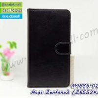 M4685-02 เคสฝาพับไดอารี่ Asus Zenfone 3-ZE552KL สีดำ