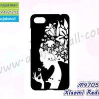 M4705-02 เคสแข็งดำ Xiaomi Redmi6a ลาย Women X111