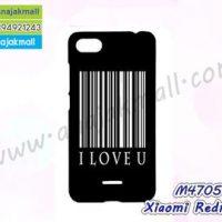 M4705-06 เคสแข็งดำ Xiaomi Redmi6a ลาย I Love U