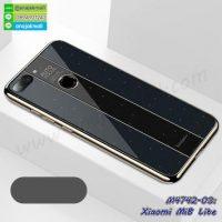 M4742-03 เคสยาง Xiaomi Mi8 Lite หลังอะคริลิค สีดำ
