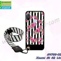 M4766-02 เคสยาง Xiaomi Mi A2 Lite ลาย Flower V01 พร้อมสายคล้องคอ