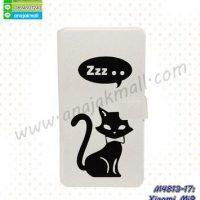 M4813-17 เคสฝาพับ Xiaomi Mi9 ลาย Black Cat Z01