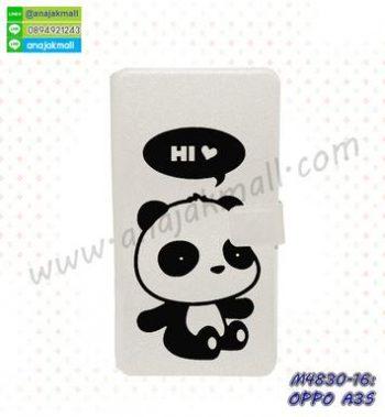 M4830-16 เคสฝาพับ OPPO A3S ลาย Hi Panda