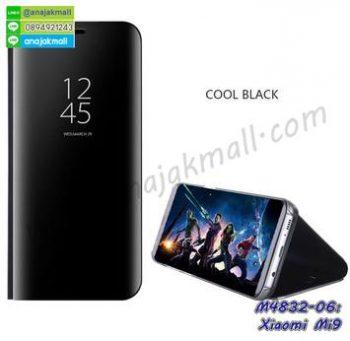 M4832-06 เคสฝาพับ Xiaomi Mi9 เงากระจก สีดำ