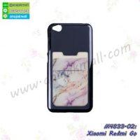 M4833-02 เคสยางหลังบัตร Xiaomi Redmi Go ลายหินอ่อนสีขาว
