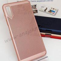 M4838-04 เคสระบายความร้อน Samsung Galaxy A7-2018 สีชมพู