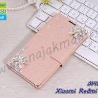 M4852-17 เคสฝาพับ Xiaomi Redmi Note7 แต่งคริสตัลลาย Fresh Flower II