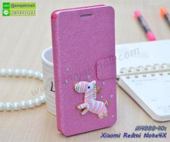M4888-10 เคสฝาพับคริสตัล Xiaomi Redmi Note4X ลาย Zebra III