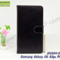 M4904-02 เคสฝาพับไดอารี่ Samsung S6Edge Plus สีดำ