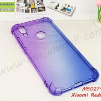 M5027-01 เคสยางกันกระแทก Xiaomi Redmi7 สีม่วง-ฟ้า