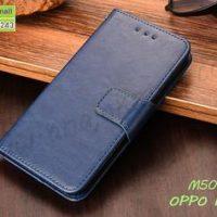 M5032-05 เคสหนังฝาพับ OPPO F11 Pro สีน้ำเงิน
