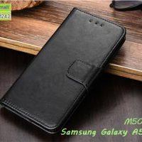 M5033-01 เคสหนังฝาพับ Samsung A5 2016 สีดำ