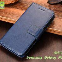 M5033-05 เคสหนังฝาพับ Samsung A5 2016 สีน้ำเงิน