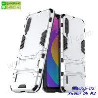M5035-02 เคสโรบอทกันกระแทก Xiaomi Mi A3 สีเงิน